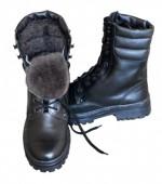 Ботинки ОМОН хром (натуральная шерсть)