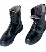 Ботинки ОМОН хром с натуральным мехом